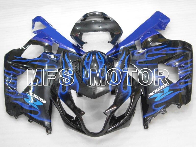 Для Suzuki системы GSX-Р 600/750 2004-2005 К4 инъекции ABS обтекатель - пламя сине - черный(белый для Suzuki логотип)