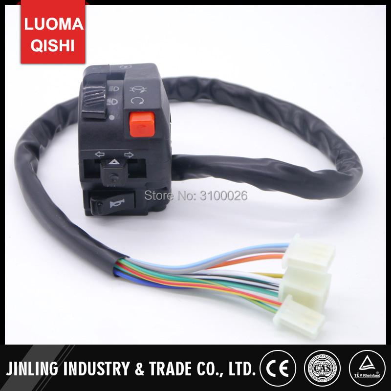 Multifunction Control Inhibitor Handle Switch Fit For China ATV Jinling JLA-13T-2 110cc 150cc  200cc 300cc Quad Bike Parts