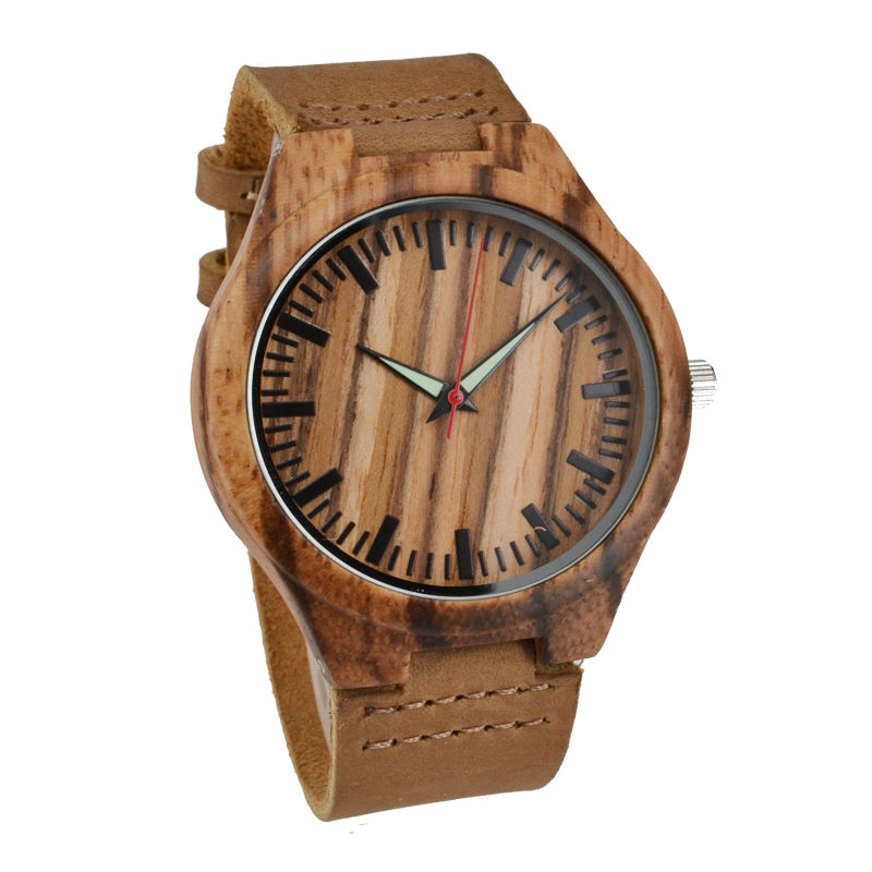Wooden Watches Fashion Natural Bamboo Wristwatch  With Genuine Cowhide Leather Lovers Luxury Wood Watches For Men Idea Gifts stainless steel manual push self turning stirrer egg beater whisk mixer kitchen wholesale price