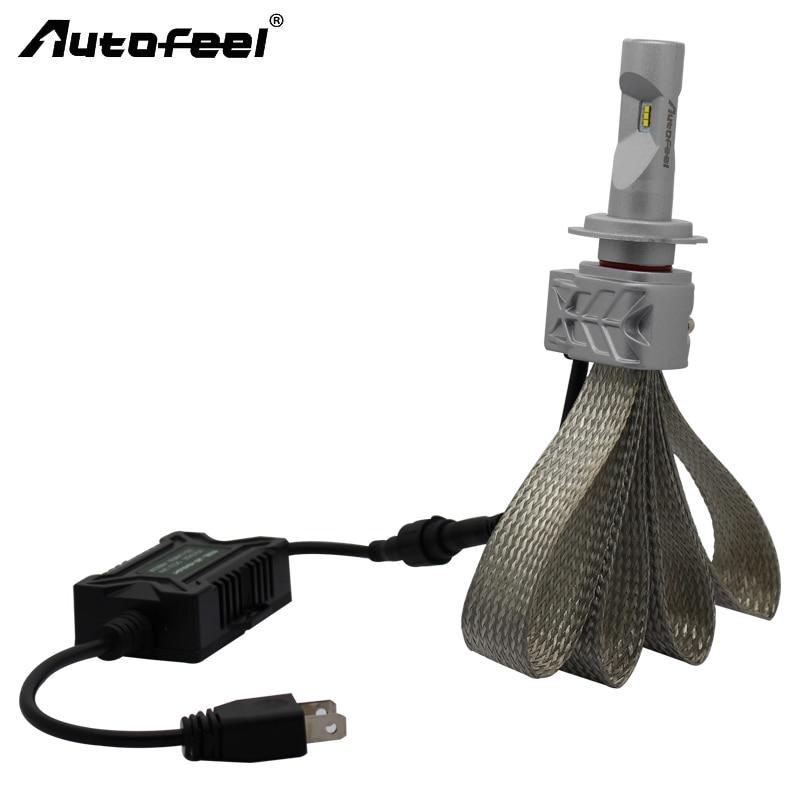 Autofeel LED Bulb H7 9005/HB3 H4 Hi/Lo Car Headlight Kit Dipped Beam Main Beam Foglight Replacing 12V Car Lamp Copper Braiding