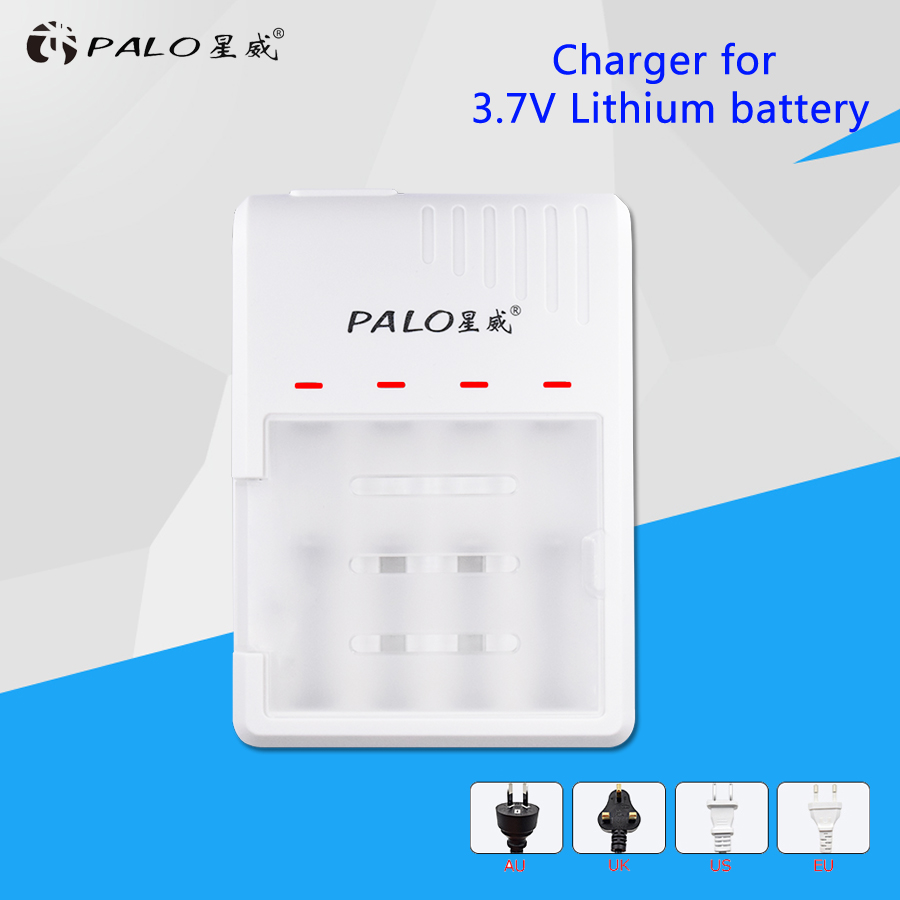 PALO 4 solts Intelligent fast battery charger LED Display charger For Li-ion 18650 battery 18650 Rechargeable batteries Use