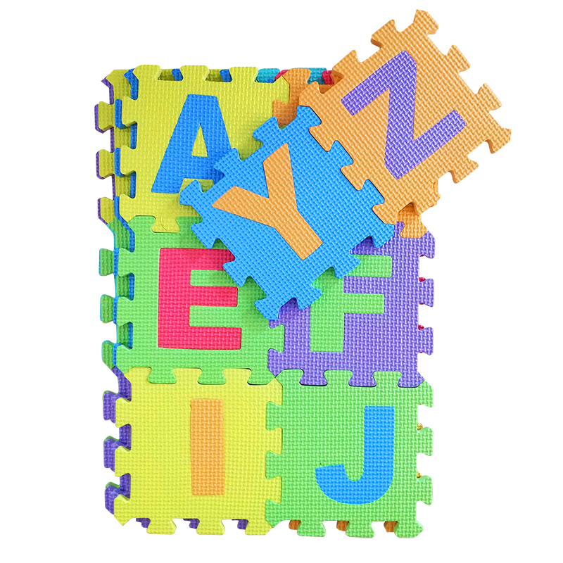 26pcs/set Letters Children Puzzle Play Mat EVA Foam Kids Rug Carpet Playmat Educational Toys for Baby Boys Girls 30x30x0.9cm