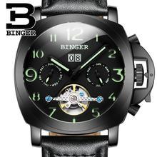 2017 Suisse de luxe hommes de montre BINGER marque Mécanique Montres multifonctions D'arrêt militaire horloge B1169-4