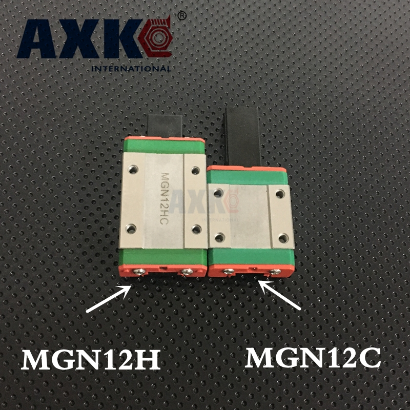 2018 Linear Rail Free Shipping Mgn12c Or Mgn12h Linear Bearing Sliding Block Match Use With Mgn12 Guide For Cnc Xyz Diy 1pcs 2018 new thrust bearing axk free shipping cnc linear guide rail mgn12 195mm guides a mgn12c block ball bearing steel material