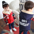 Children's clothing  child wadded jacket thickening outerwear 2017 child winter baby boy cotton-padded jacket medium-long