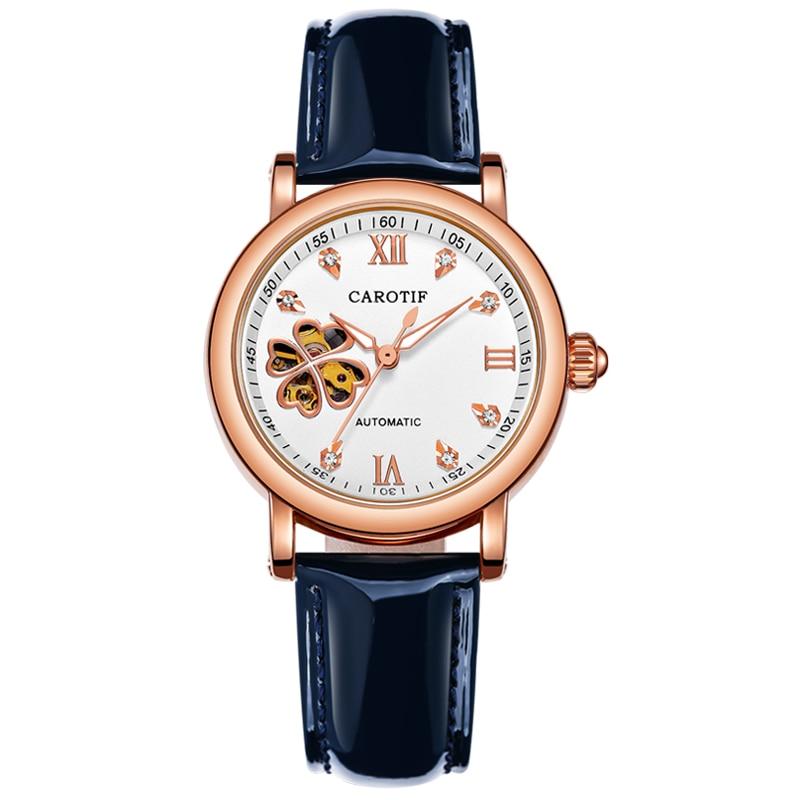 Carotif Fashion automatyczne zegarki mechaniczne damskie - Zegarki damskie - Zdjęcie 4