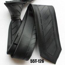 Novelty Skinny ties 2017 new design necktie black tie with diagonal stripes dress kravata