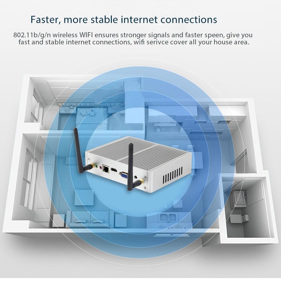 Rabatt Fanless Mini PC Windows 10 Core i7 i3 7100U i5 7200U 4K HD Mini Computer DDR3L 2,40 GHz HTPC WiFi HDMI VGA minipc