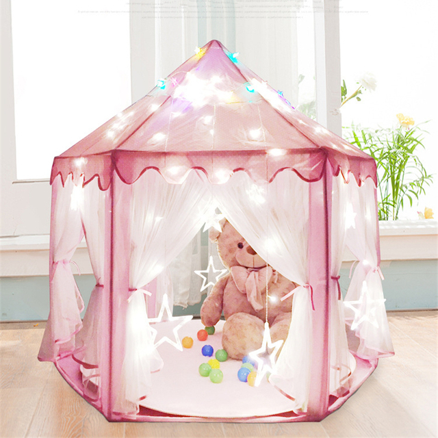 Large Baby Girl Princess Playing House Indoor/Outdoor Grenadine Kids Bed Tent Playhouse Hexagon Castle  sc 1 st  AliExpress.com & Large Baby Girl Princess Playing House Indoor/Outdoor Grenadine ...