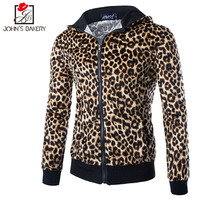 2018 New Fashion Hoodies Brand Men Leopard Zipper Sweatshirt Male Men S Sportswear Hoody Hip Hop