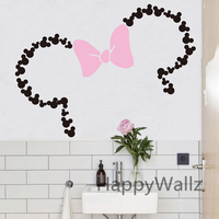 Baby Nursery Custom Name Mini Mouse Wall Sticker DIY Girls Name Wall Decal Kids Room Children