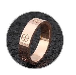 Розовое золото, кольцо из нержавеющей стали с кристаллом для женщин, ювелирные кольца для мужчин, обручальные кольца для женщин, подарки для помолвки - Цвет основного камня: rose gold no crystal