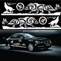 1 Unidades Tótem Del Lobo Etiqueta Engomada Del Coche Car Styling Auto Body Side Lobo Emblema Decal Vinilo