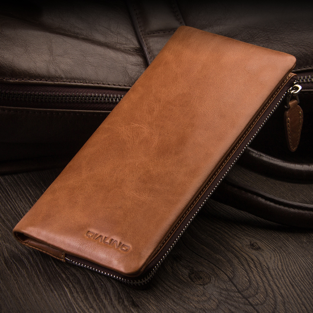 QIALINO 2016 New Holster for iphone 7 Luxury Handmade Genuine Leather Wallet Case for iPhone 7