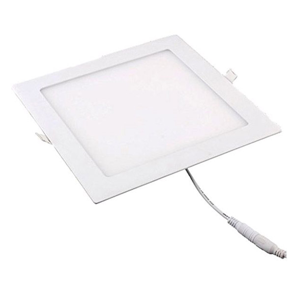 18W LED Square Recessed Ceiling Panel Down Light Ultra-slim Down Lamp for Dining Room, Living Room, (White) large illumination area ul panel light 4 x1 1200x300mm hanging recessed wall surface mounting no gare soft flat light