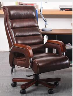 High - grade leather computer chair. Home can massage boss swivel chair. Office chair seat special.09 240320 home office can lie down high density inflatable sponge 360 degrees can be rotated computer chair boss massage chair