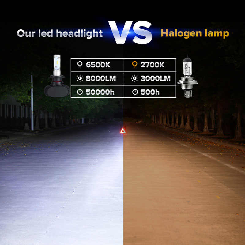 Elglux CSP Led Headlights H1/H3/H4/H7/H11/880/9005/9006 LED Car Headlight Bulb Hi-Lo Beam 50W 8000LM 6500K Auto Led Headlamp 12v