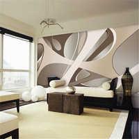 beibehang papel de parede 3d wallpaper European minimalist bedroom living room TV backdrop stripes abstract mural