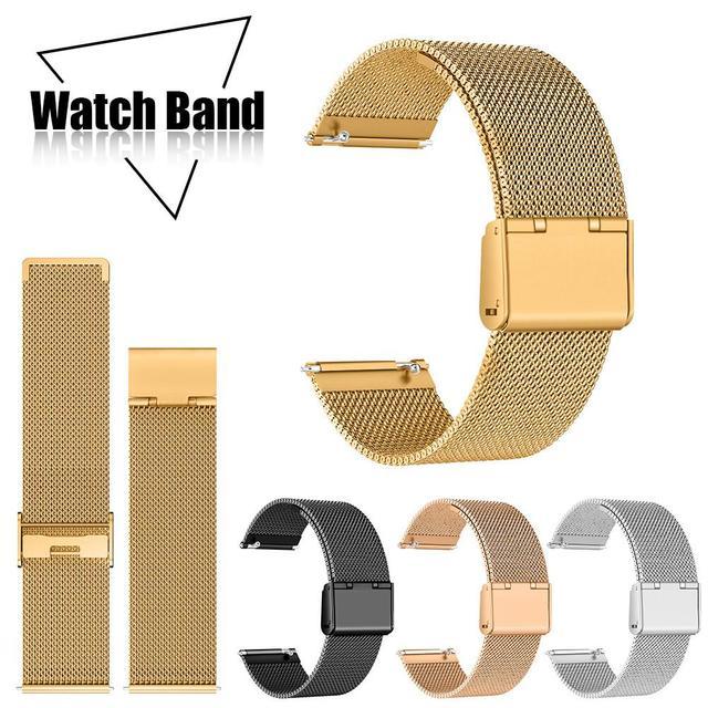 2018 bracelets de remplacement de bande de maille d'acier inoxydable milanais chauds bracelets Bracelet de montre pour Fitbit Versa montre intelligente