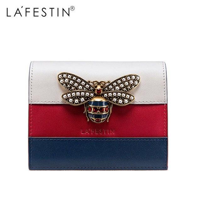 7dd028e3c En venta LAFESTIN cartera mujer 100% cuero genuino abeja Patchwork ...