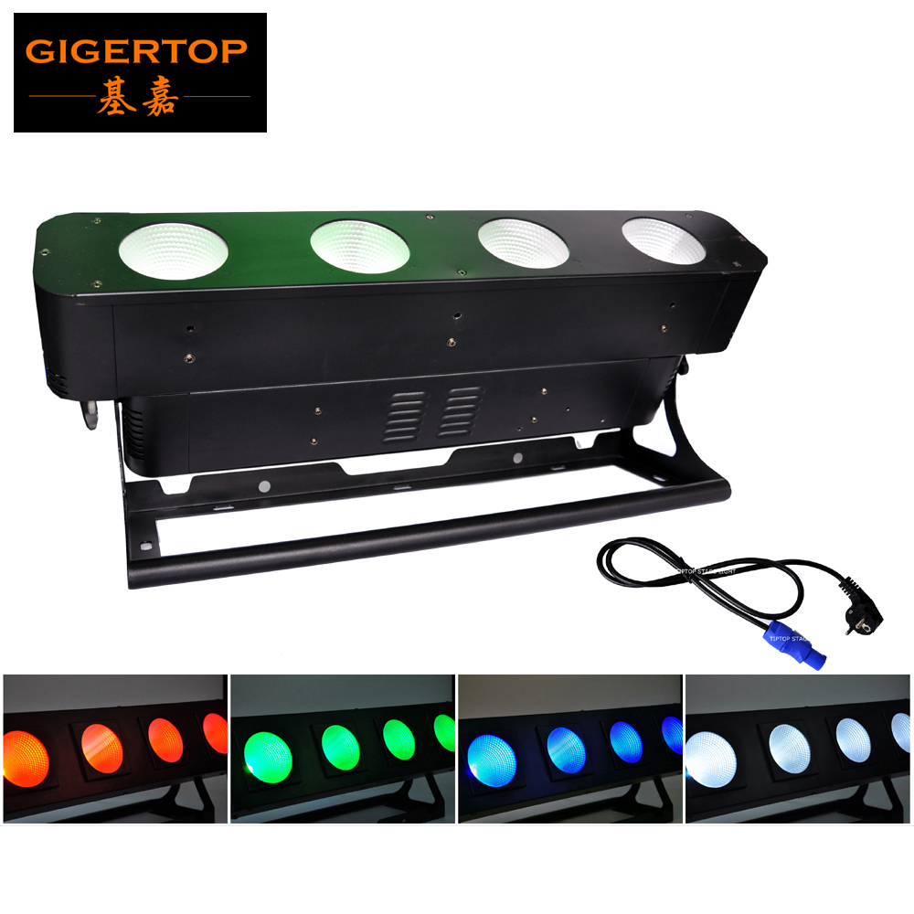 TIPTOP COB LED PAR RGBW Led Audience Light,Stage Club Party Lighting, 4x40W RGBW 4IN1 Color/ White Optional audience DMX Blinder