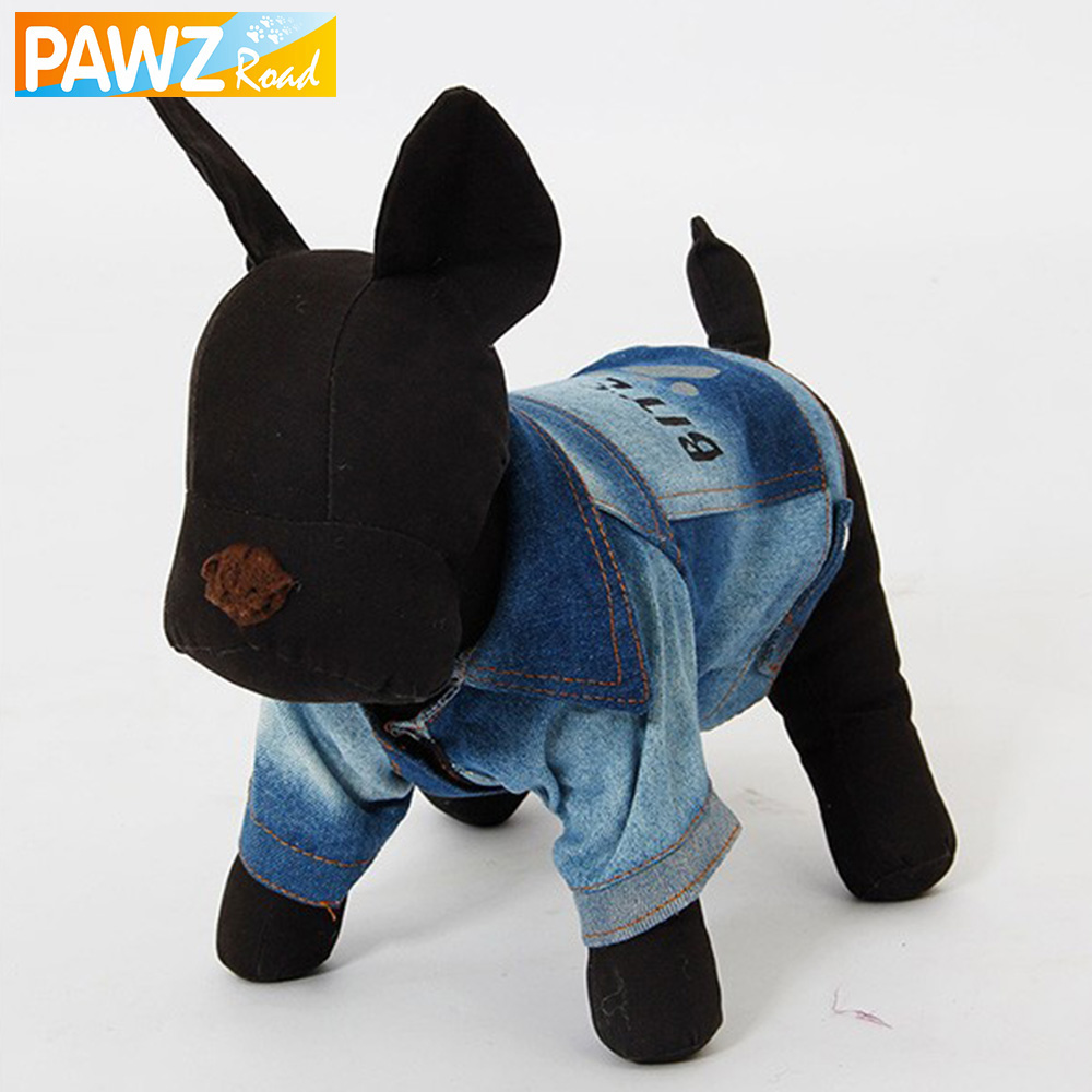 US $5 49 41% OFF|Free Shipping Dog Fashion Paw Print Pet Clothes Jean  Fabric Dog Coat Bite Me Puppy Apparel Cat Costume PetWear-in Dog Coats &  Jackets