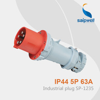 Saipwell Hot Sale Waterproof European Standard Socket Outlet 5P 63A SP 1235
