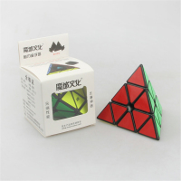 Original MoYu Magnetic Pyramid Triangle Pyraminx Magic Cube Black White Color Speed Puzzles Cubes Educational Toys