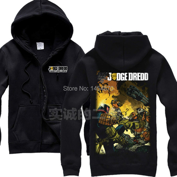 11 styles robot police RoboCop Judge Dredd Rock Zipper Hoodies jacket brand clothing punk metal black Sweatshirt sudadera fleece