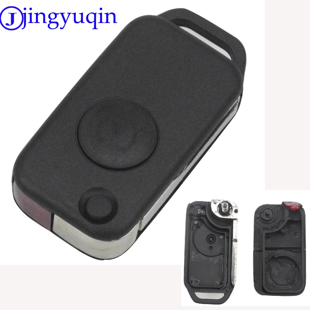 купить jingyuqin 1 Button Replacement Flip Folding Key Shell Case Cover Fob For Benz For Mercedes 1984-2004 Uncut Blade онлайн