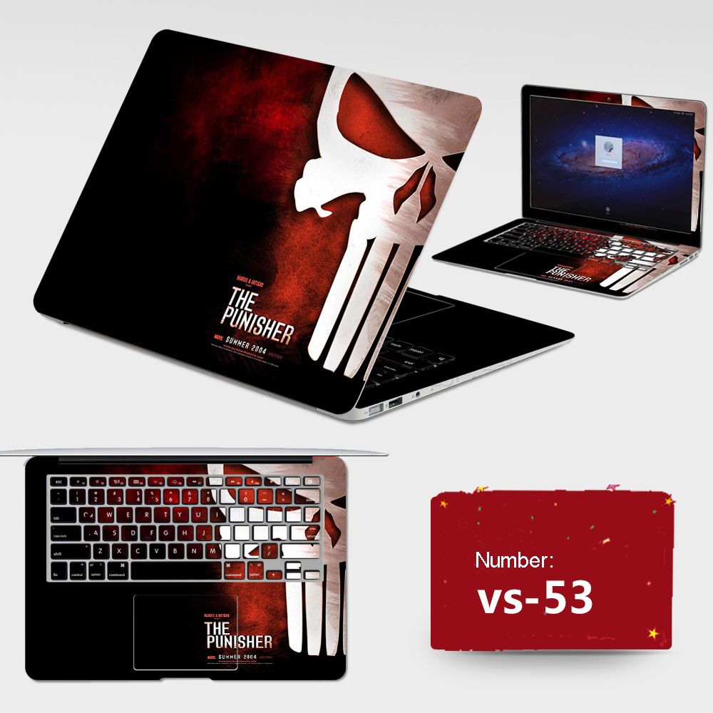 2017 Burst Sells Laptop Sticker Free Waterproof r PVC Skins Cover ABC Sides+Keys+Key Interstice Stickers For Asus X502C Case
