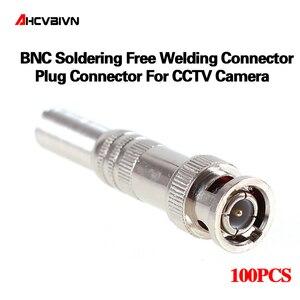 RG-59 coaxical 케이블, 황동 끝, 크림프, 케이블 나사, cctv 카메라 bnc 커넥터에 대 한 100 개/몫 bnc 남성 커넥터