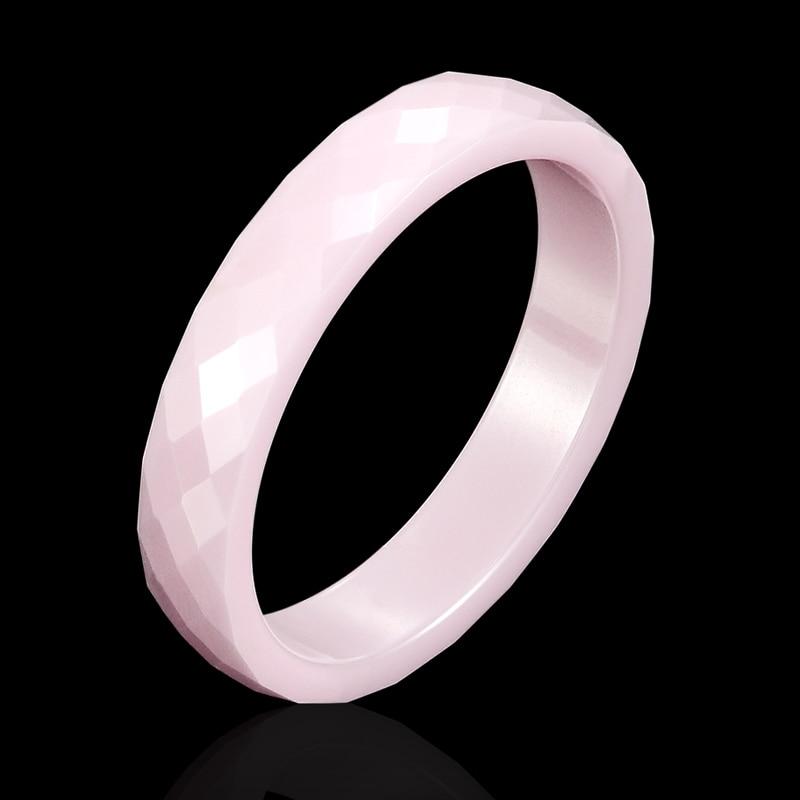New 4mm Light Pink Black White Beautiful Hand Cut Ceramic