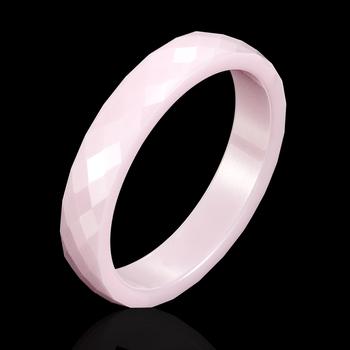 Nowy 4mm jasnoróżowy czarny biały piękna ręka Cut pierścień ceramiczny na bluzka kobieca wysokiej jakości biżuteria bez zadrapań damski pierścionek tanie i dobre opinie LINGLEFENG Brak Kobiety Ślub Nastrój tracker Moda Śliczne Romantyczny Wszystko kompatybilny Zespoły weselne ROUND BF963