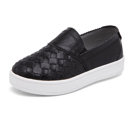 Children shoes boys girls shoes breathable loafers kids fahion round toe leather shoes girls soft casual single shoes girls boys