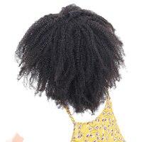 Монгольский афро курчавые переплетения Человеческие волосы Связки Мёд Queen Hair продукты не Реми естественный Цвет Инструменты для завивки во...