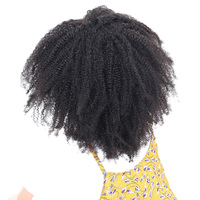 Mongolian Afro Kinky Curly Hair Extensions 100 Human Hair Bundles Honey Queen Non Remy Hair Weave