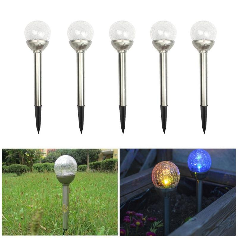 0.2W RGB LED Solar Light Color Crackle Glass Ball Garden Decoration Yard Lawn Path Landscape Light Outdoor Lighting Solar Lamp authentic original vintage style водолазки