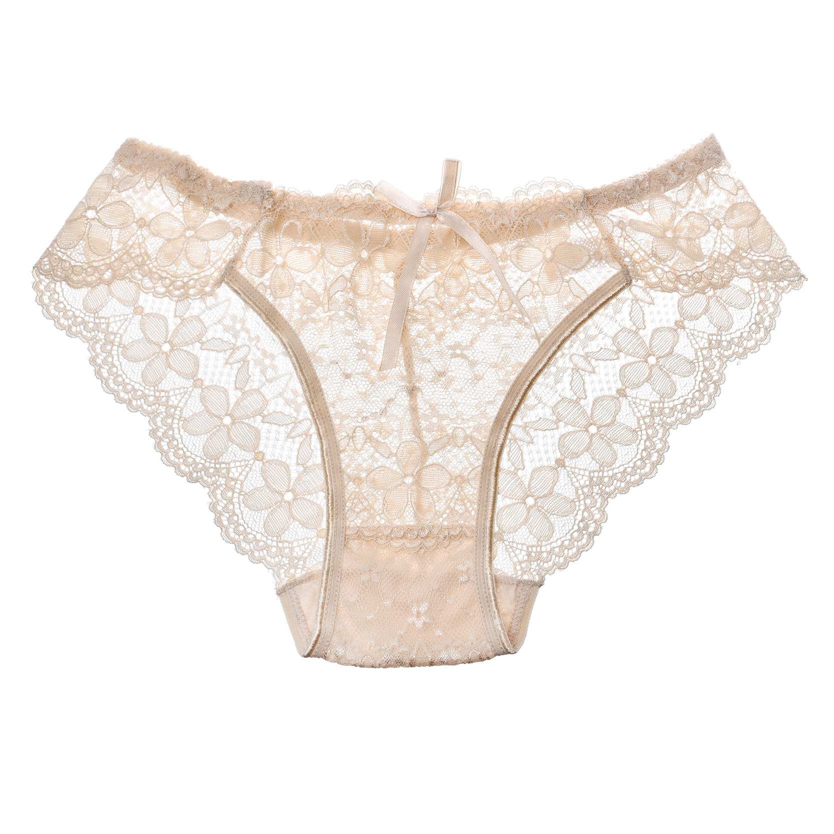 3 Pcs Hot Sale Sexy Lace Seamless Panties Underwear Women Breathable Pantie Hollow Transparent Panties 13