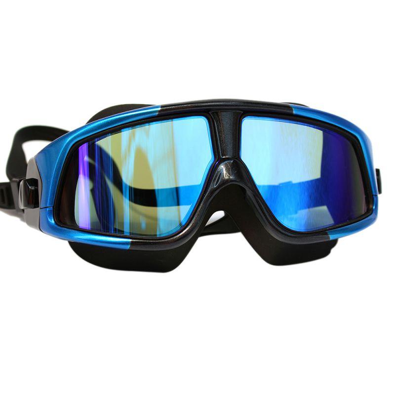 цена на Women Men Swim Mask Comfortable Silicone Large Frame Swim Glasses Swimming Goggles Waterproof Anti-Fog UV With Case