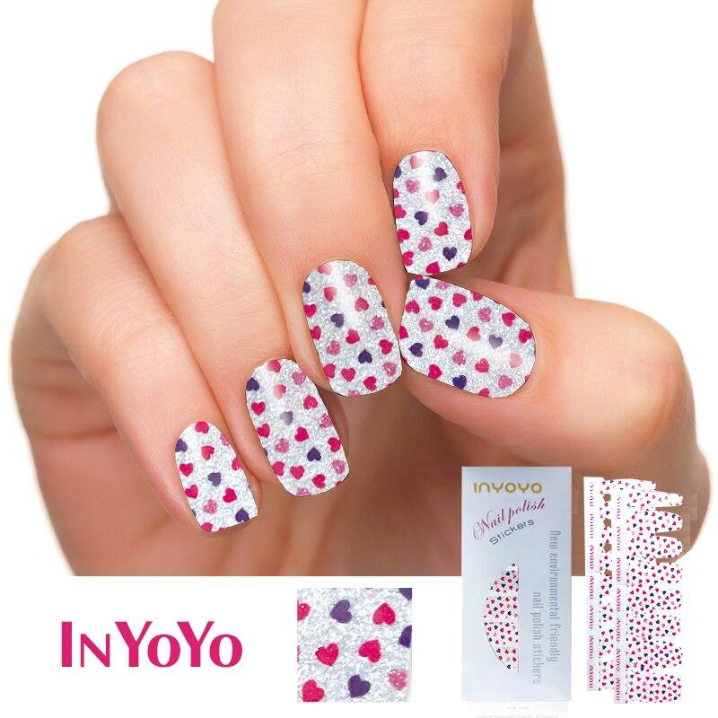 NYOYO H 217 Nail Polish Strips colorful Waterproof Non toxic Nail ...