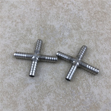 2pcs/lot Stainless Steel Pipe Cross Fitting four way - 5/16 Tee for Draft Beer Line