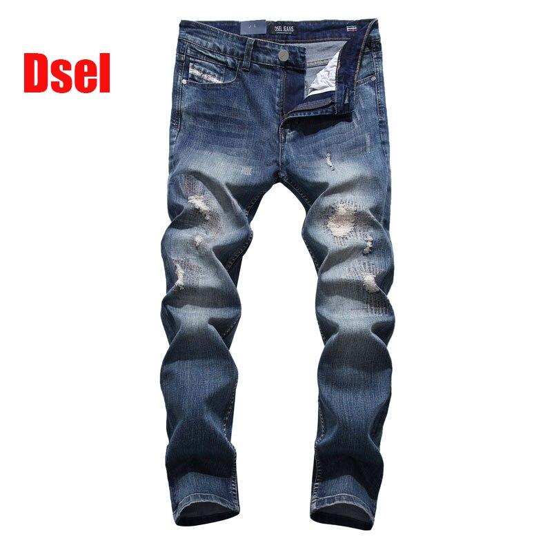 ФОТО 2017 New Arrival Fashion Dsel Brand Men Jeans Dark Blue Washed Printed Jeans For Men Casual Pants Designer Jeans Men,701-2