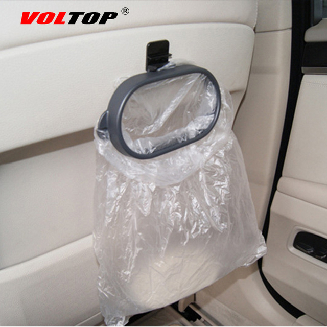 Garbage Bag Frame Car Interior Accessories For Girls Car Trash Can Ornament Pendant Dashboard Decoration