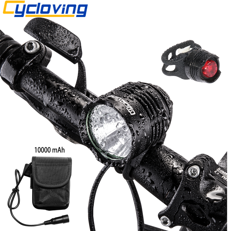 Cycloving Led Bicycle Headlight bike light tail light 1800 ...