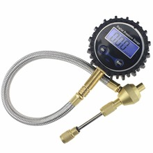 цена на 1 pcs Blue LCD Accurate Digital Tire Pressure Gauge for Car Motorcycle Resolution Tire Gauge Digital with 45 Degree Air Chuck