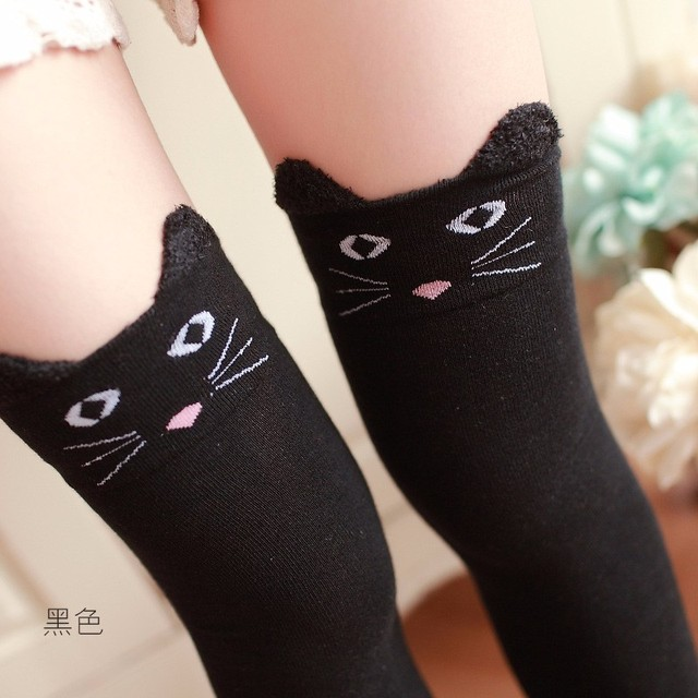 Cotton Cartoon Bear Over Knee Sock Sexy Thigh High stockings