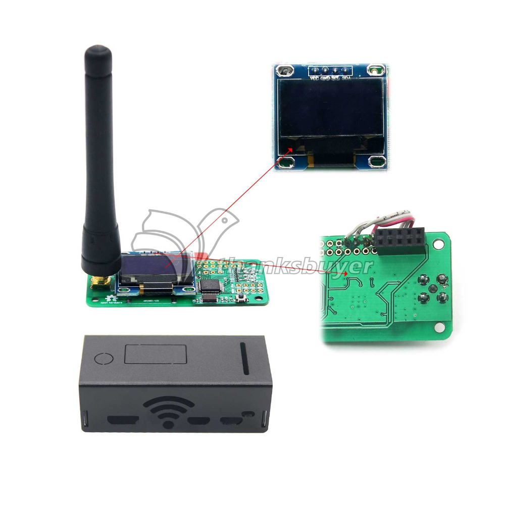 MMDVM Hotspot Module with OLED and Antenna Case Support P25 DMR YSF for Raspberry pi Walkie Talkie Robot