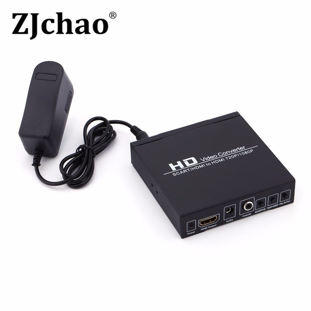 Scart/HDMI to HDMI 720P 1080P HD Video Converter Monitor Box For HDTV DVD STB##