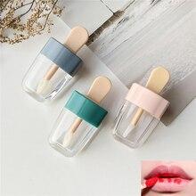 1 adet boş dudak parlatıcısı tüp konteynerler krem kavanozu DIY makyaj aracı kozmetik dondurma şeffaf dudak balsamı doldurulabilir şişe